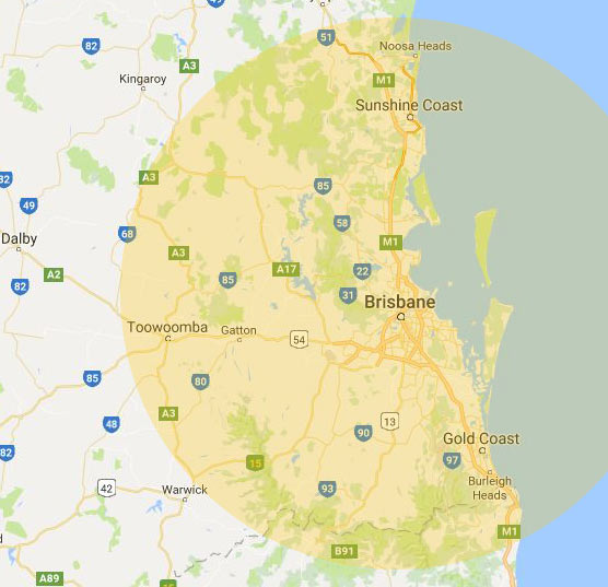 Ace trucking areas covered map